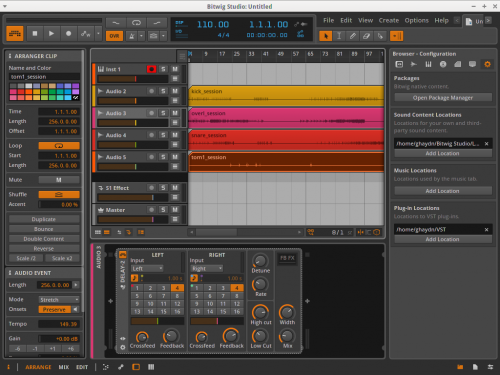 Bitwig Studio screenshot