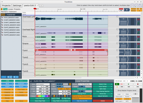 Tracktion screenshot
